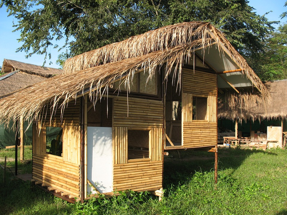 Thailand Hut Traditional Bamboo Shack Home Shed