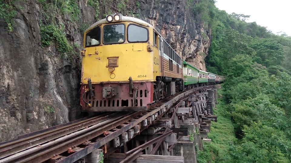 Train, Thailand, Kanchanaburi, Death Railway