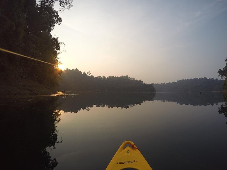 Canoe, Thailand, Lake, Asia