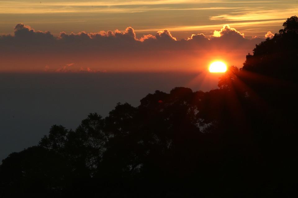 Sunrise, Mountain, Park, Thailand