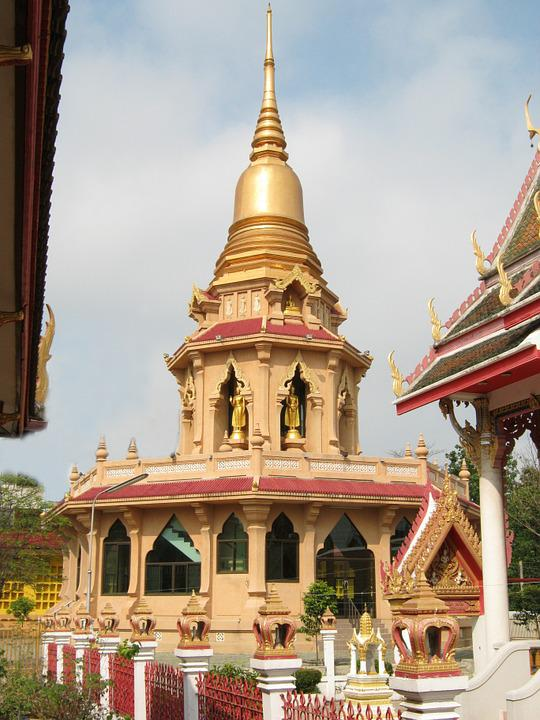 Pagoda, Buddhists, Thailand, Bangkok, Temple, Gold
