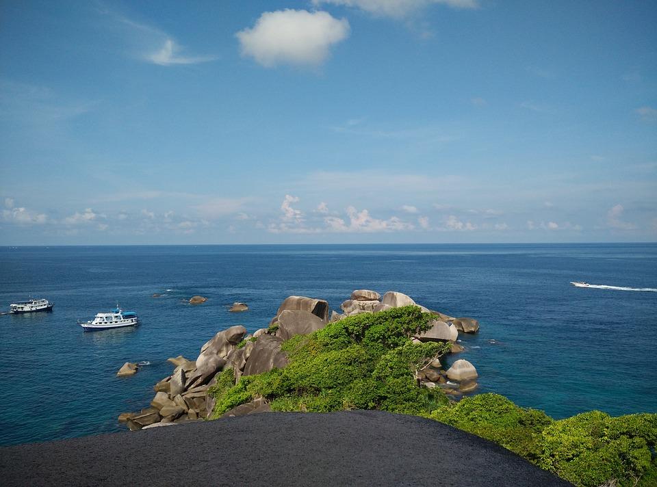 Similan Island, Thailand, Sea, Blue, Boats