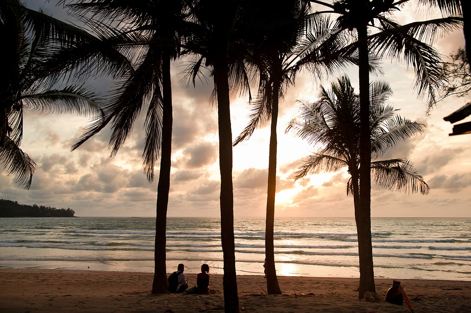 Tropical, Sea, Beach, Glow, Sunset, Couples, Thailand