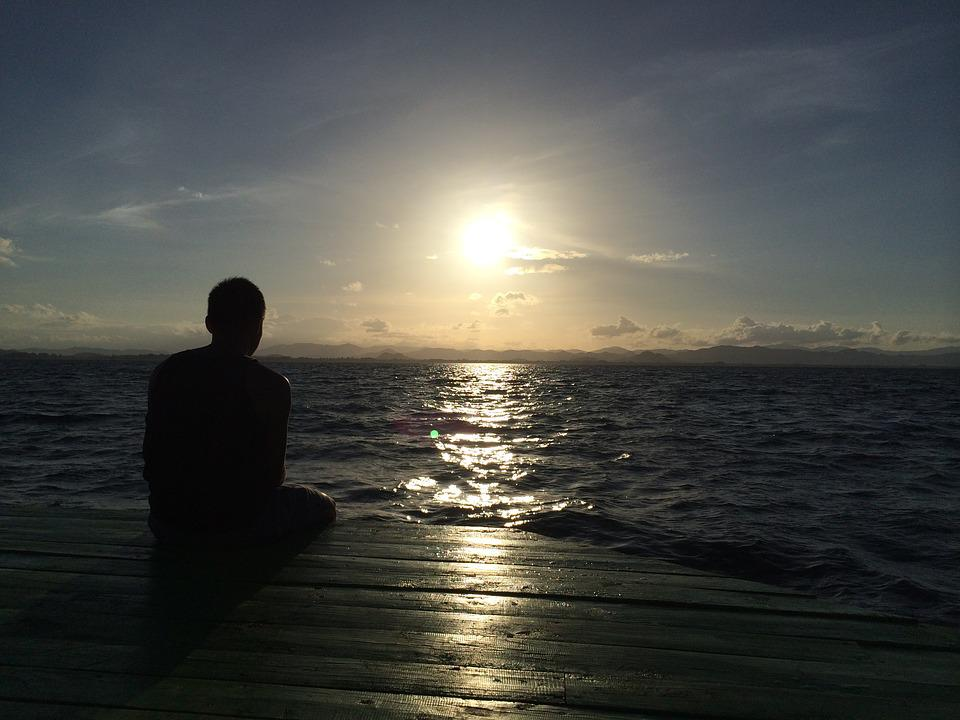 Thailand, Sea, Man, Sun, Sunset, Male