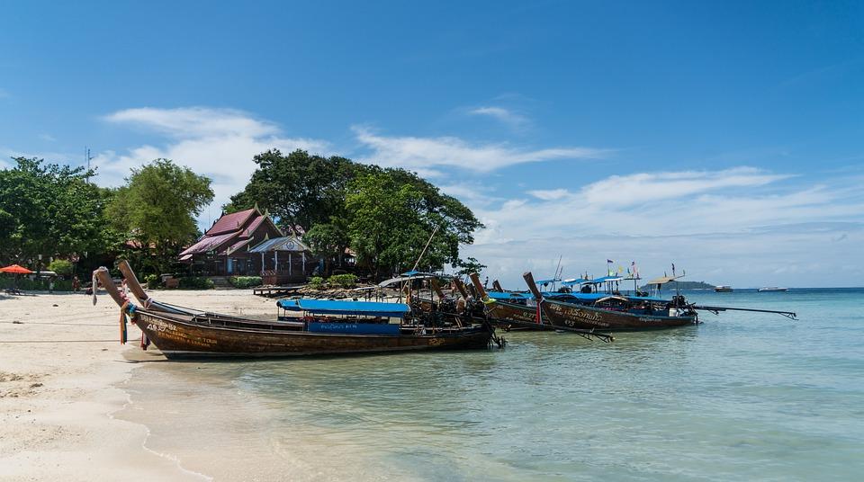 Phuket, Thailand, Phi Phi Island, Wooden Boats, Travel