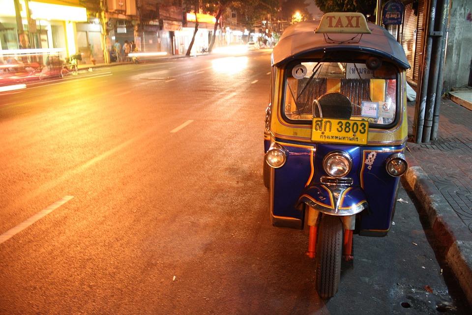 Tuktuk, Thai, Road, Thailand