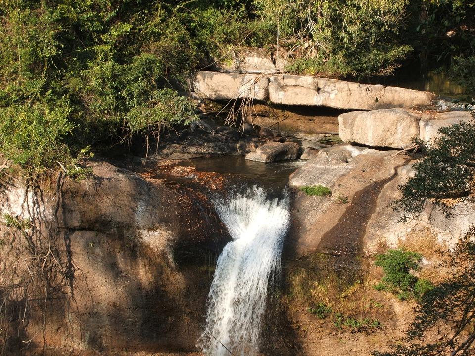 Waterfall, Thailand, Jungle, Landscape