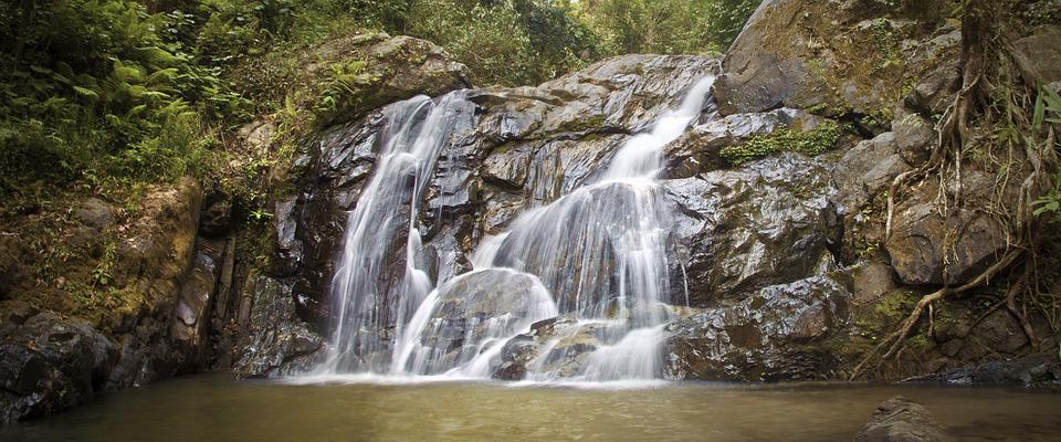 Waterfall, Nature, Peaceful, Thailand