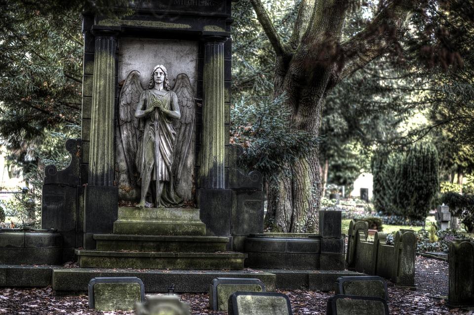 Thanathatos, Cemetery, Sculpture, Angel Figure, Angel
