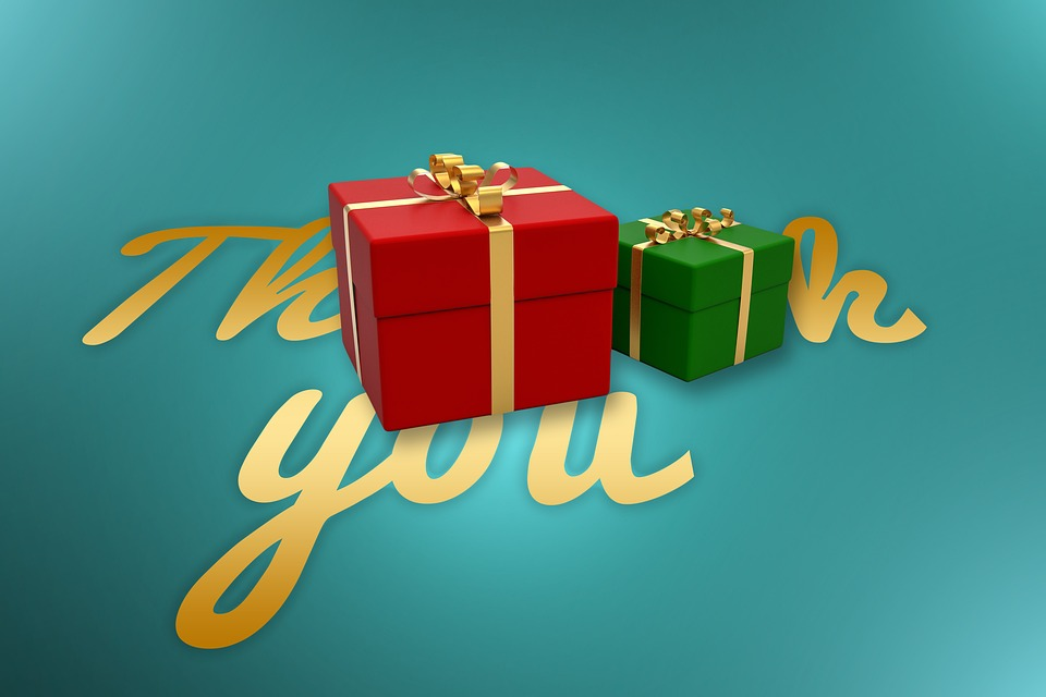 Thank You, Thank You Very Much, Gifts, Christmas, Box