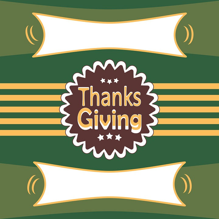 Happy Thanksgiving, Striped Newscard, Thank You Note