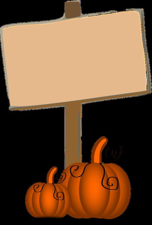 Pumpkins, Thanksgiving, Signpost, Sign
