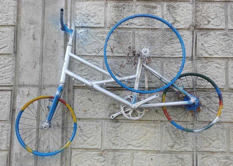 Bike, Wheels, The Act Of Art, Installation Art, Deco