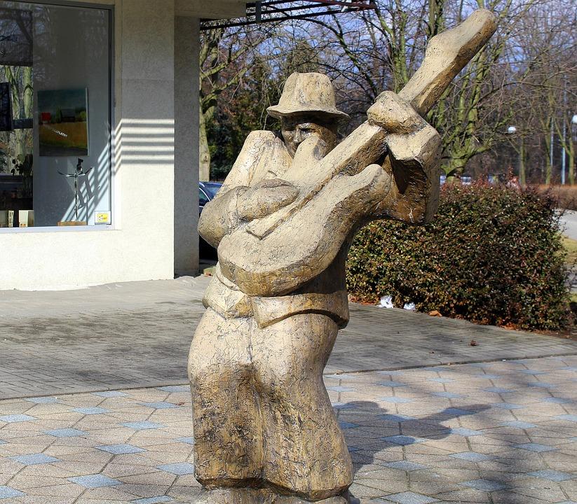Sculpture, The Statue, The Art Of, Musician, Guitarist