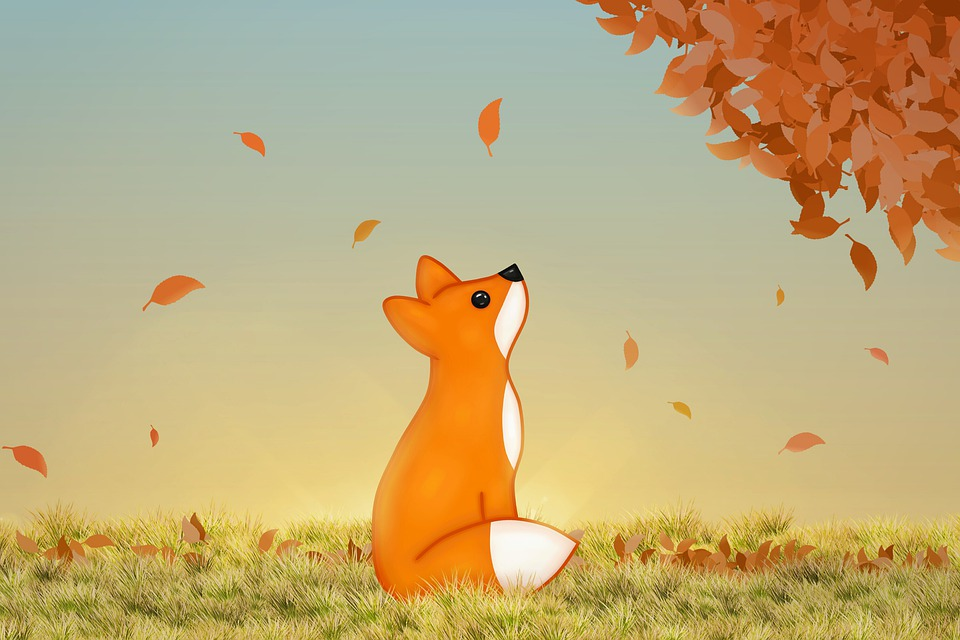 Red Fox, Animals, Kawaii, Leaves, The Autumn, Nature