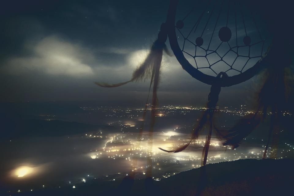 Dreamcatcher, City, Night, The Background