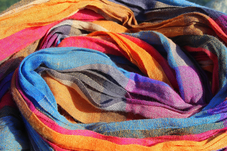 Textile, Scarf, Web, Color, Shawl, The Background