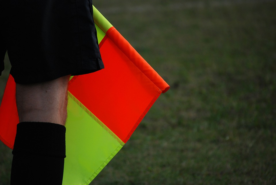 Judge, Sport, Football, Flag, The Ball, Noga