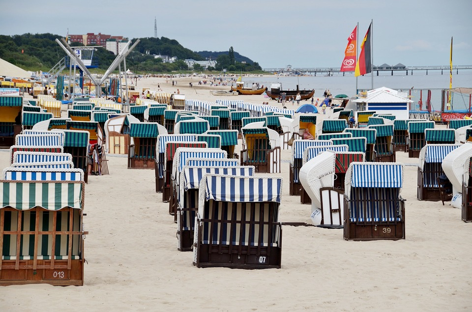 Beach Baskets, Beach, Sand, The Baltic Sea