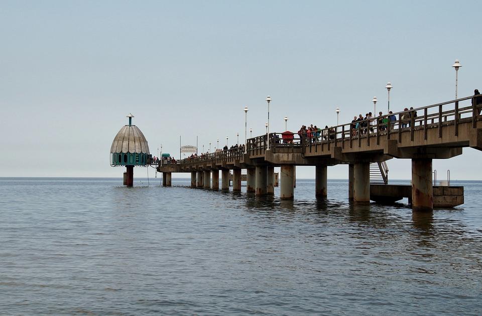 Pier, Bridge, Sea, Footbridge, The Baltic Sea
