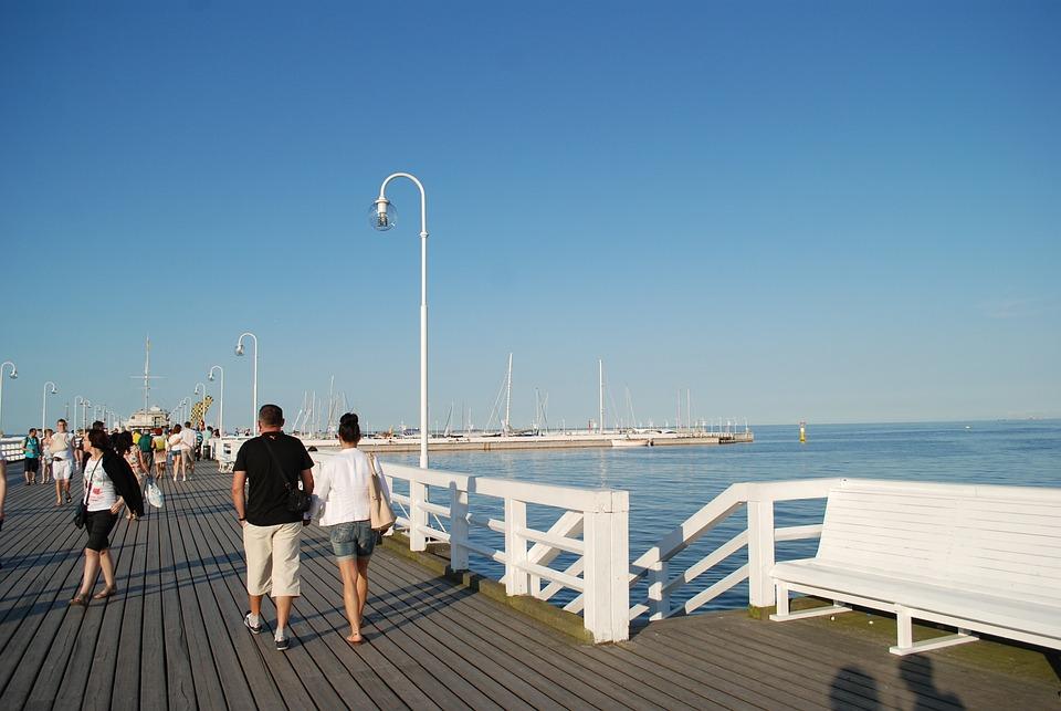 The Pier, Sopot, Beach, The Baltic Sea, Sea