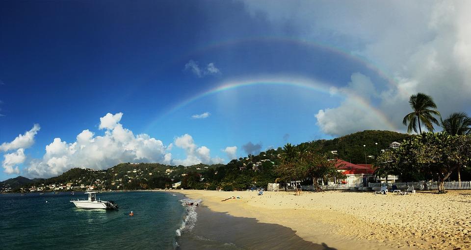 Rouge, The Beach, Rainbow, Panorama
