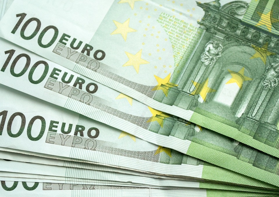 Money, Euro, 100 Eur, Package, The Buck, Green Banknote