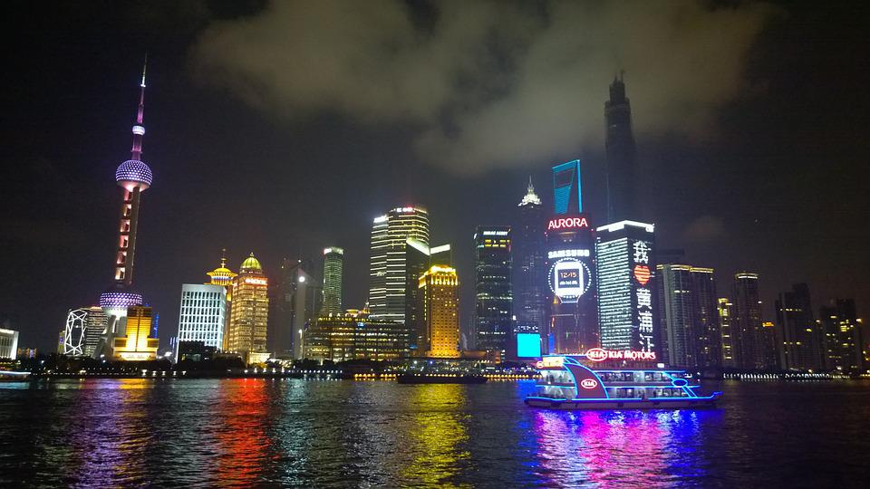 Shanghai, The Bund, Night View