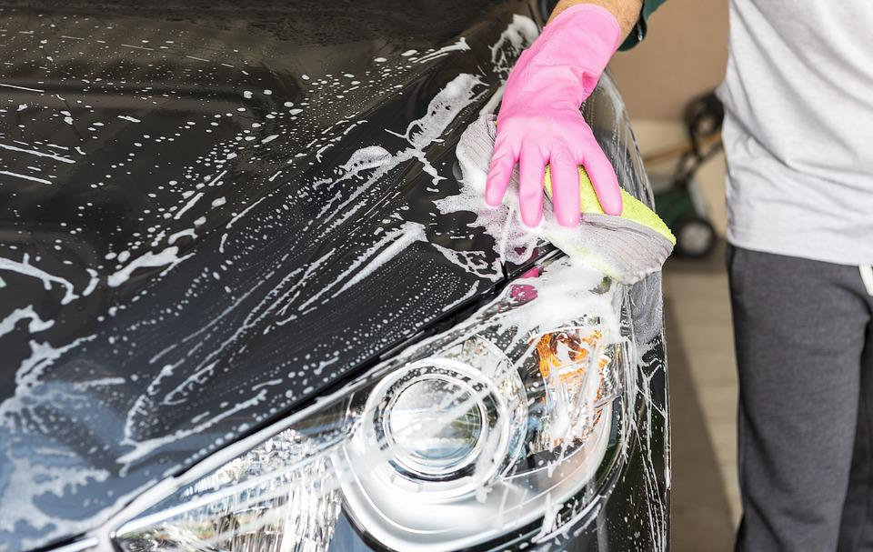 Wash A Car, The Car, Blue, The Business, Vehicle, Clean
