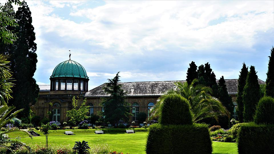 Botanical Garden, The Castle Of Karlsruhe, Park, Rush