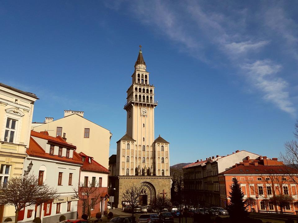 Bielsko-biała, The Cathedral, Beskids, Silesia, Poland