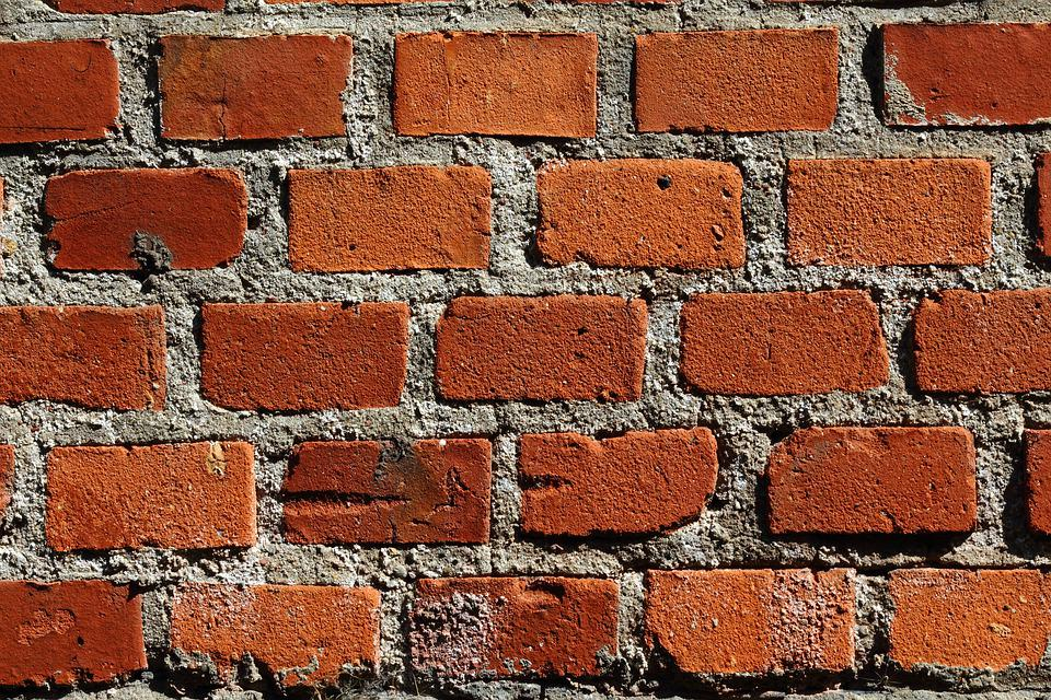 The Background, Brick, Red Brick, Building, The Cement