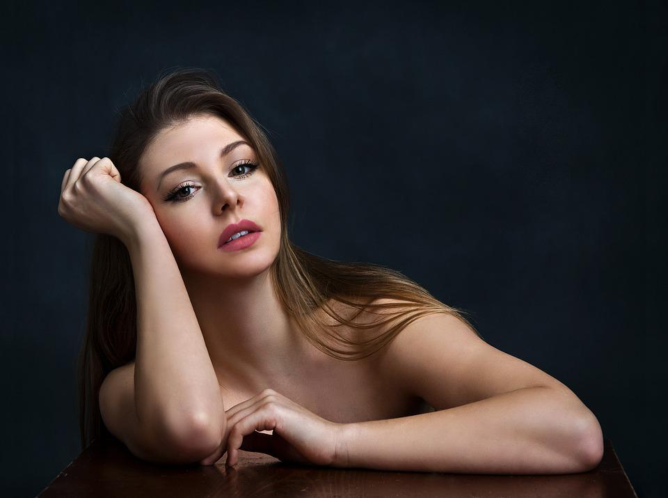 Girl, Woman, Beauty, The Charm Of The, Portrait, Studio