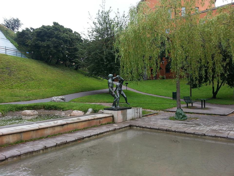 The City Library, Sveavägen, Dust, Sculpture, Stockholm