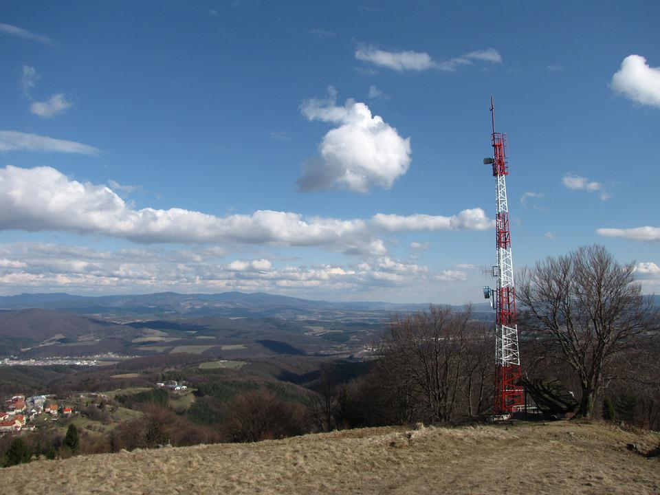Transmitter, The Clouds, Blue Sky, City