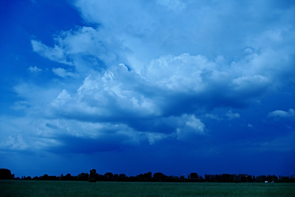 The Clouds, Clouds, The Sky, Storm, Dark Blue, Sky