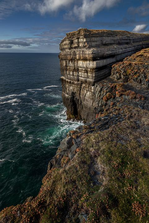 The Cliffs, Ireland, Sea, Landscape, The Coast, Rock