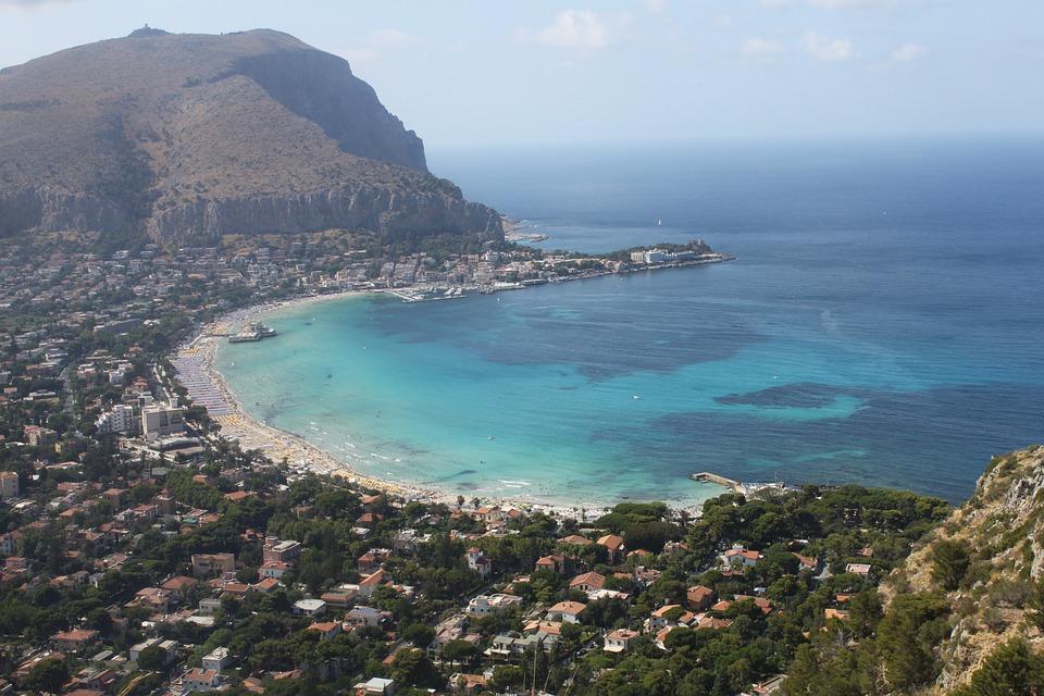 Palermo, The Coast, Lazur, The Mediterranean Sea