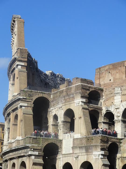 The Coliseum, The Ruins Of The, Italy, Monument