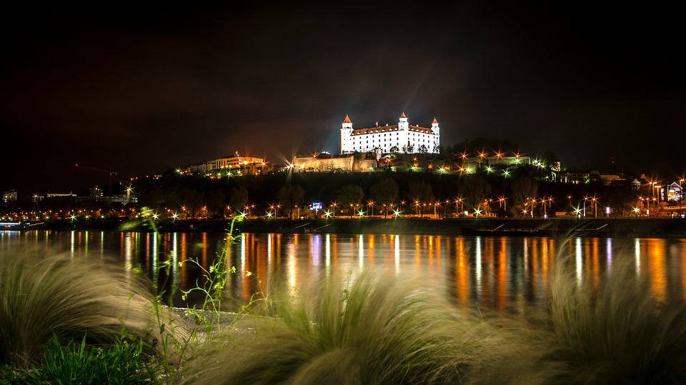 Bratislava, Castle, The Danube, River, View