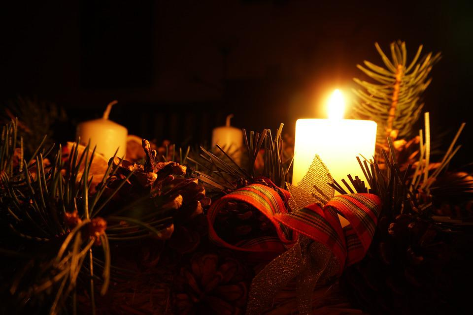 Advent, Candle, The Darkness, The Advent Wreath, Wreath