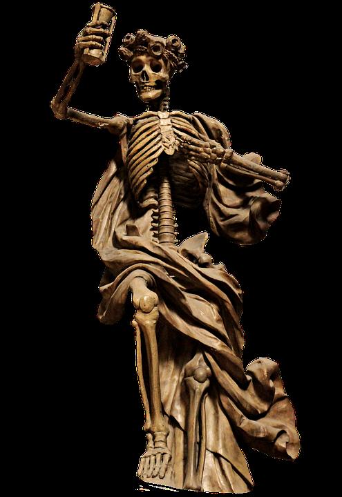 Skeleton, The Death, Png Sculpture, Statue, Death