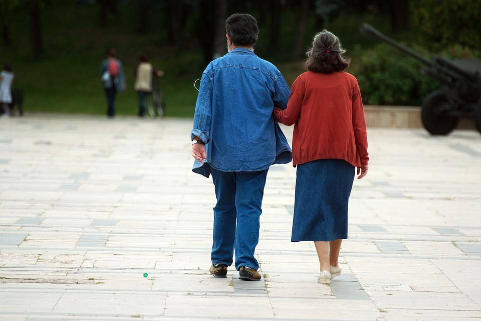 People, Couple, The Elderly, Man, Woman, The Walking