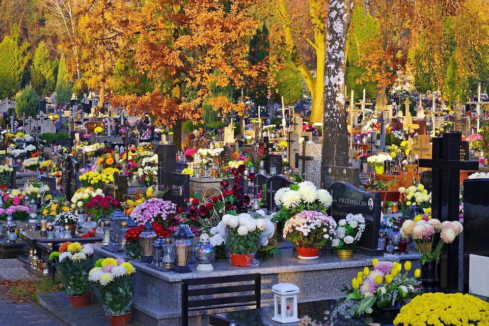 Autumn, The Feast Of The Dead, Cemetery, Graves