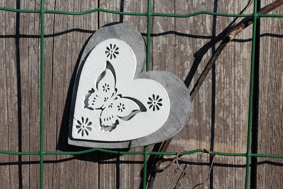 The Fence, Heart, Wooden, Valentine's Day, Decoration