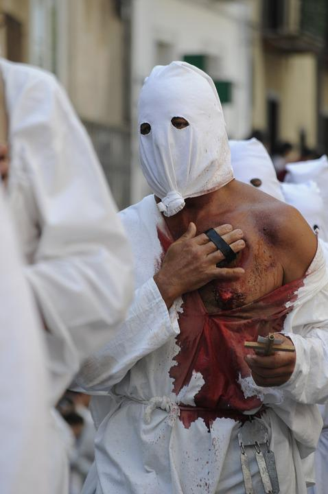 Religion, Procession, Flying, The Flagellation