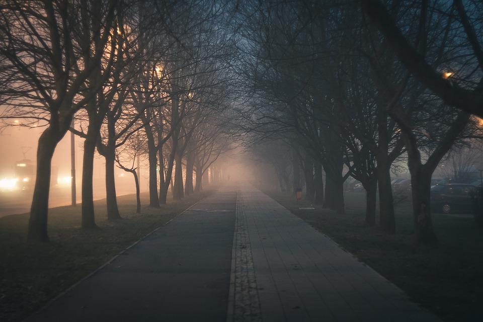 City, Walkway, Street, Boat, The Fog, Hazy, Poland