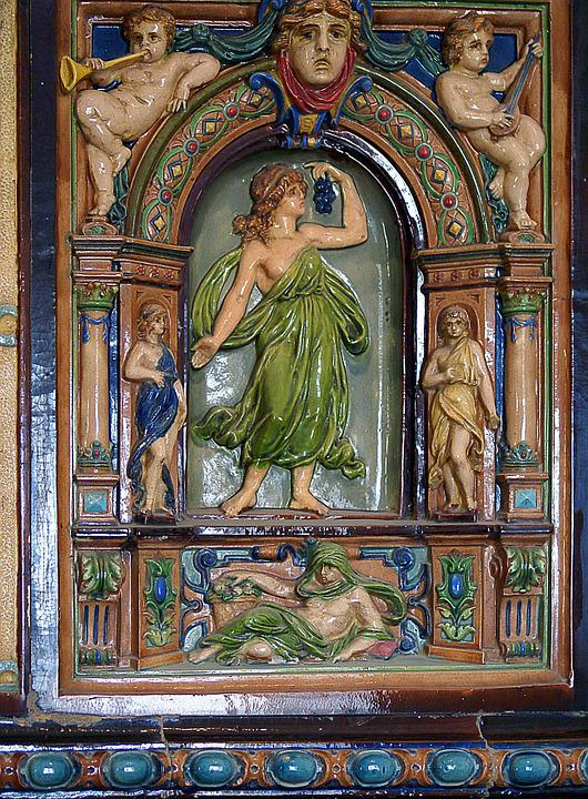 Tile, Stove, Ceramics, Relief, The Form Of
