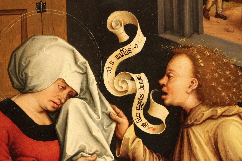 Annunciation, The Framework, Painting, Oil On Canvas