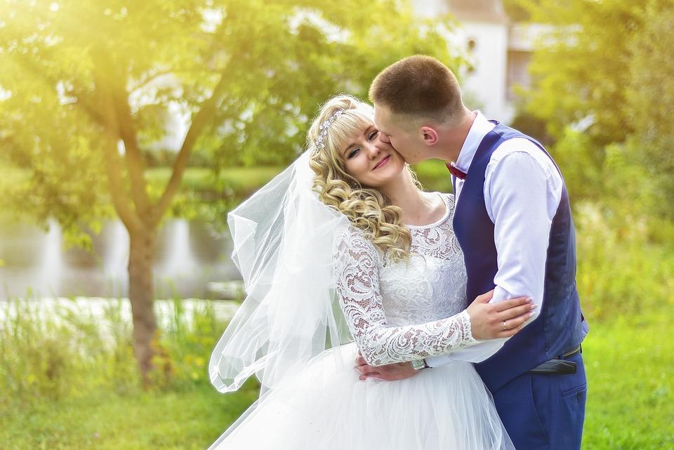 Wedding, Bride, The Groom, Kiss, Romance, Marriage